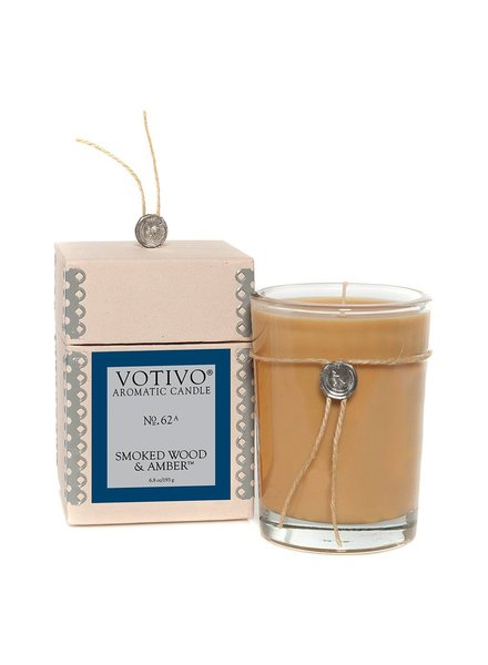Smoked Wood & Amber Votivo Candle