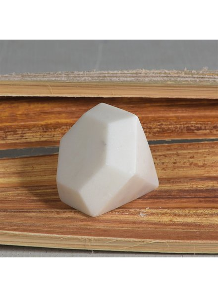 HomArt White - Soapstone Geometric Object - Diamond