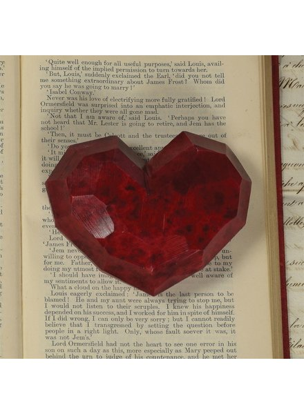HomArt Faceted Soapstone Hearts - Med
