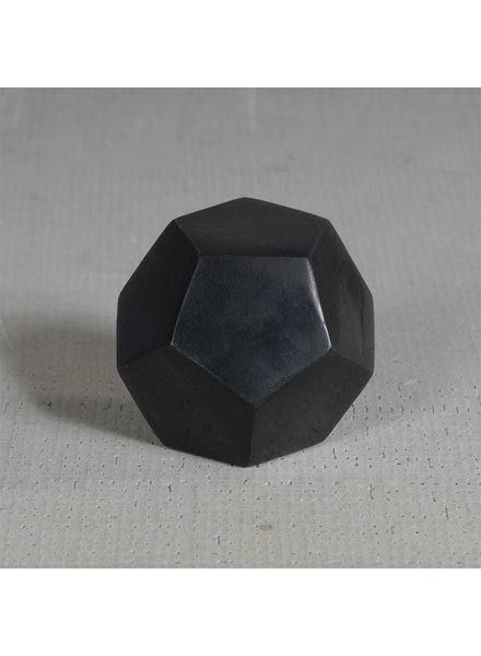 HomArt Black Soapstone Geometric Object - Dodecahedron