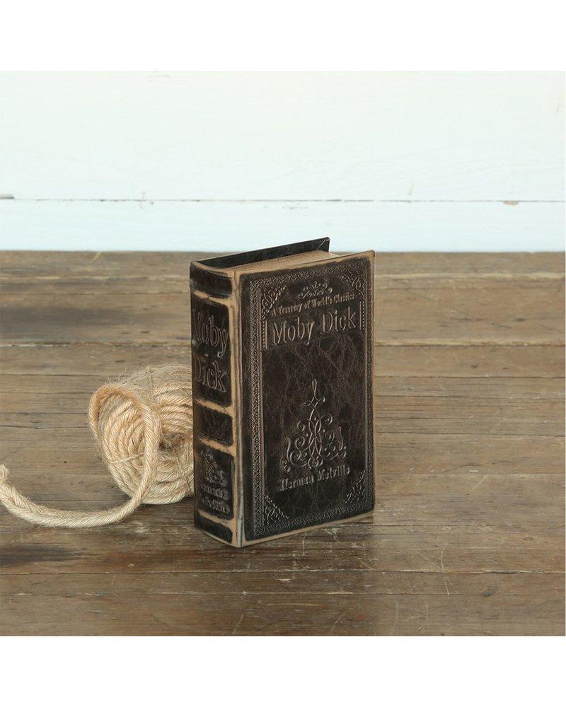 HomArt Maritime Embossed Book Box - Moby Dick - 6.75 in - Black