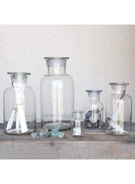 HomArt Pharmacy Jar with Stopper - Lrg - Clear