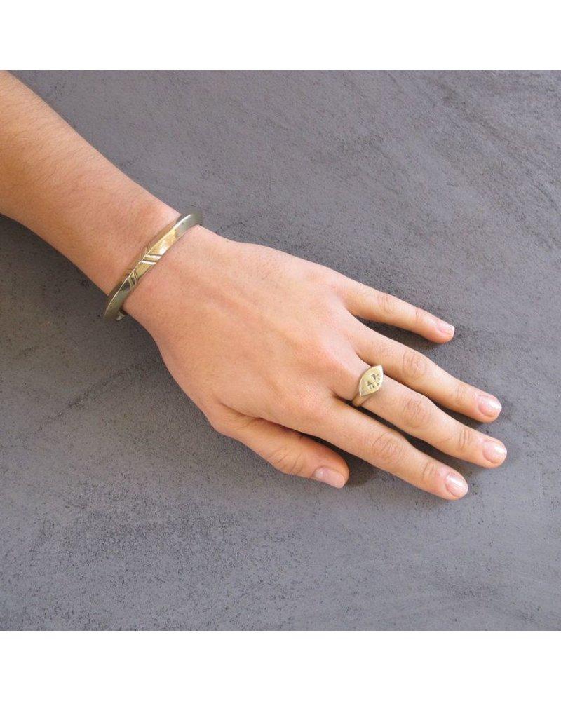 Marisa Mason Ojo Eye Brass Ring