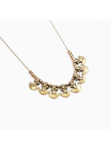 Marisa Mason Salt Flats Brass Necklace