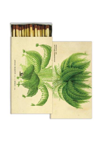 HomArt Matches - Ferns - Sepia Background  - Set of 3