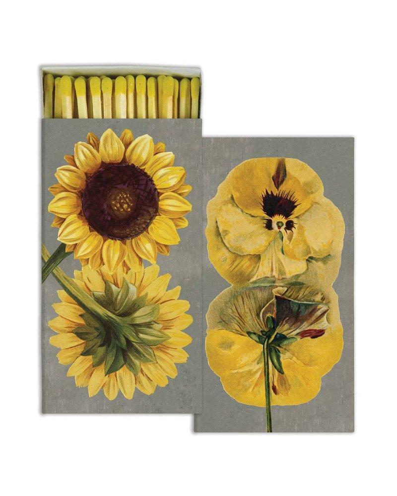 HomArt Matches - Yellow Flowers - Set of 3