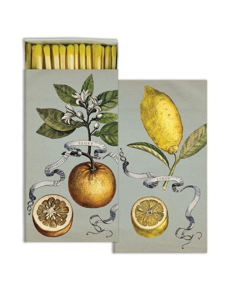 HomArt Matches - Citrus : Lemon & Orange - Set of 3