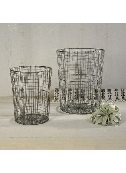 HomArt Soren Tapered Wire Baskets - Set of 2