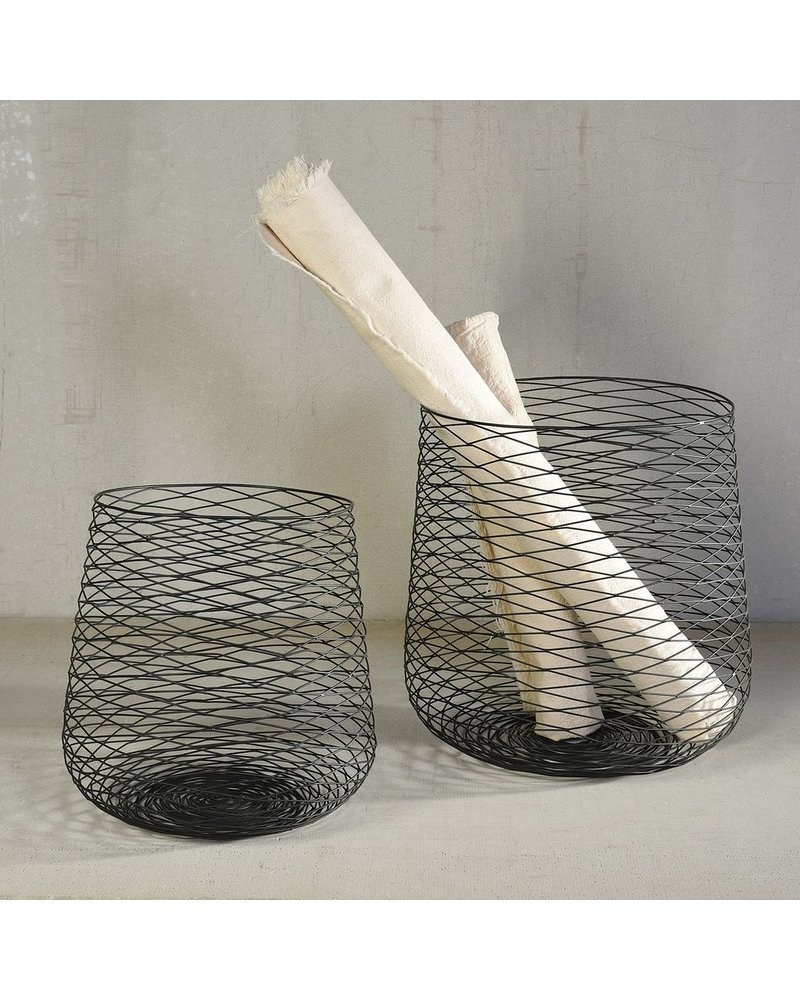 HomArt Claus Wire Baskets - Set of 2