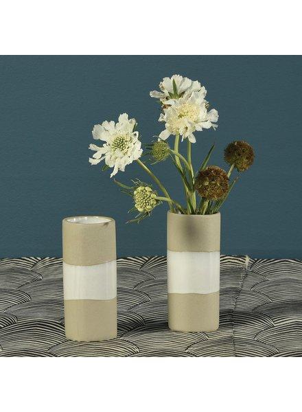 HomArt Shore Ceramic Cylinder Vase - Wide - Sm