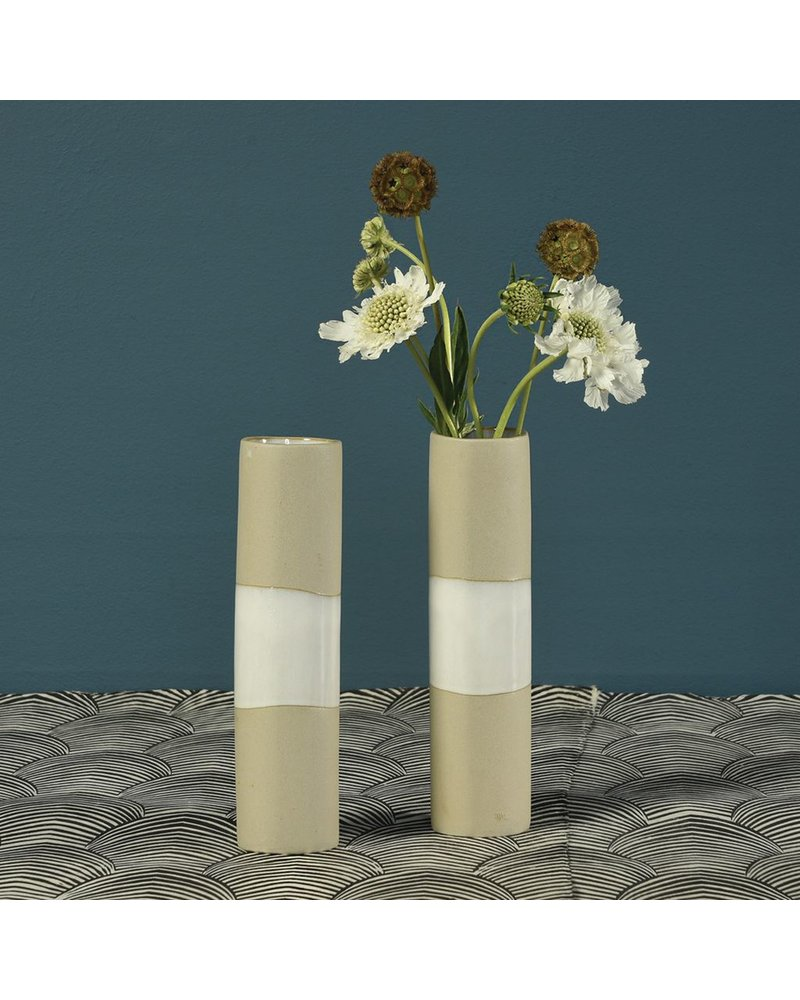 HomArt Shore Ceramic Cylinder Vase - Wide - Med
