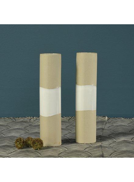 HomArt Shore Ceramic Cylinder Vase -Wide -  Lrg