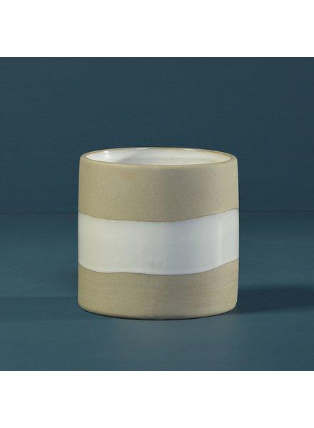 HomArt Shore Ceramic Cylinder Vase - Tall - Lrg