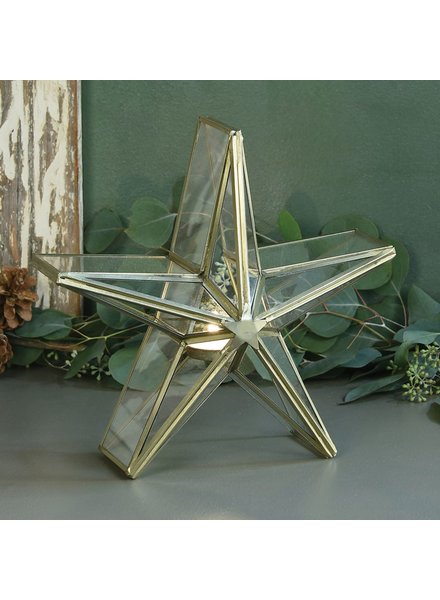 HomArt Glass Star Candle Holder - Sm
