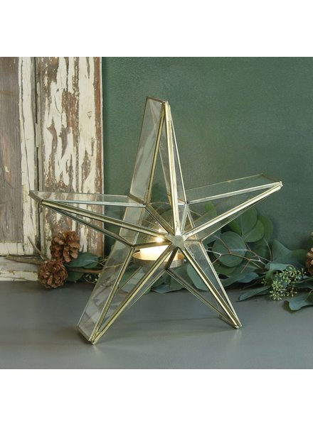 HomArt Glass Star Candle Holder - Med