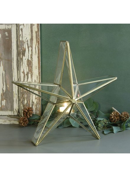 HomArt Glass Star Candle Holder - Lrg