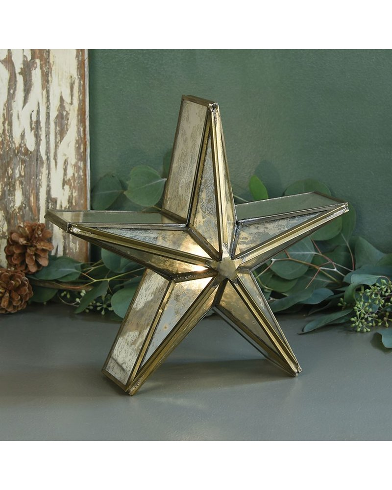 HomArt Glass Star Candle Holder, Mirrored - Sm