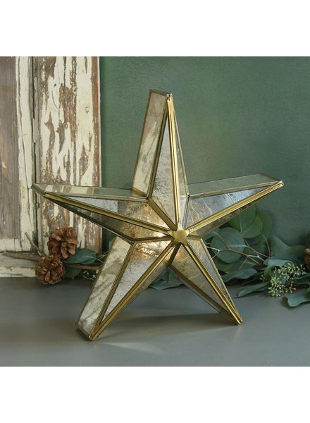 HomArt Glass Star Candle Holder, Mirrored - Med