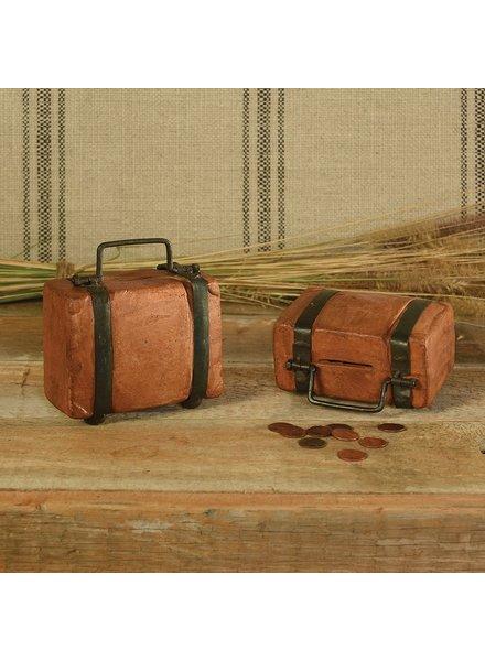 HomArt Terra Cotta Suitcase Bank