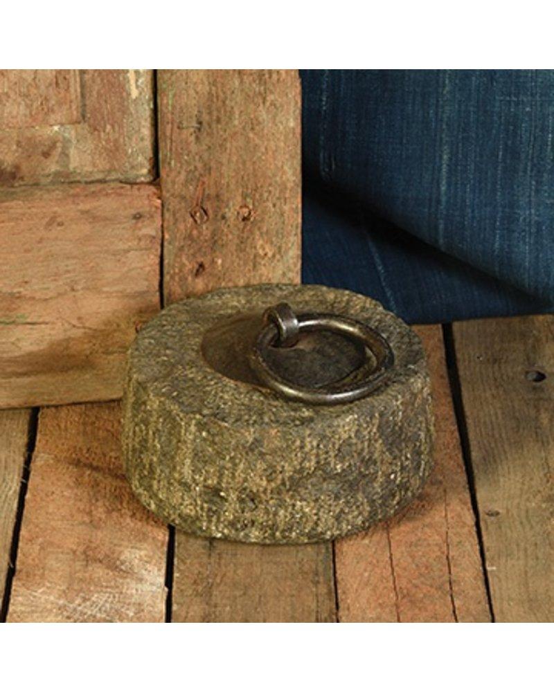 HomArt Stone Doorstop with Iron Ring