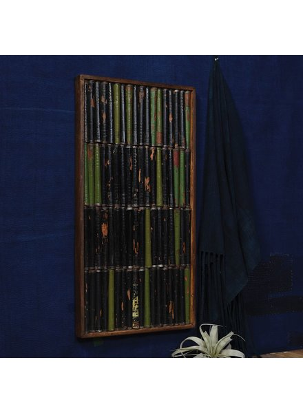 HomArt Spindle Wall Art, 4 Rows Horizontal