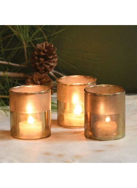 HomArt Gold Pavel Votive - Set of 2