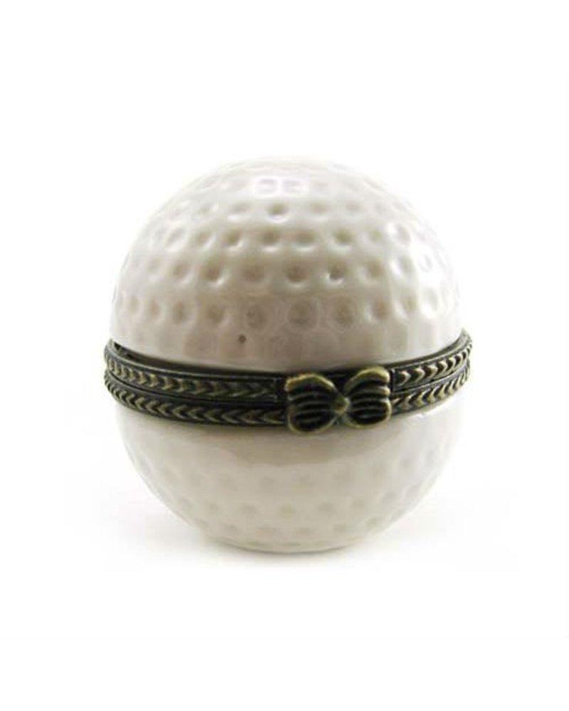 Art Gifts Porcelain Golf Ball Keepsake Box