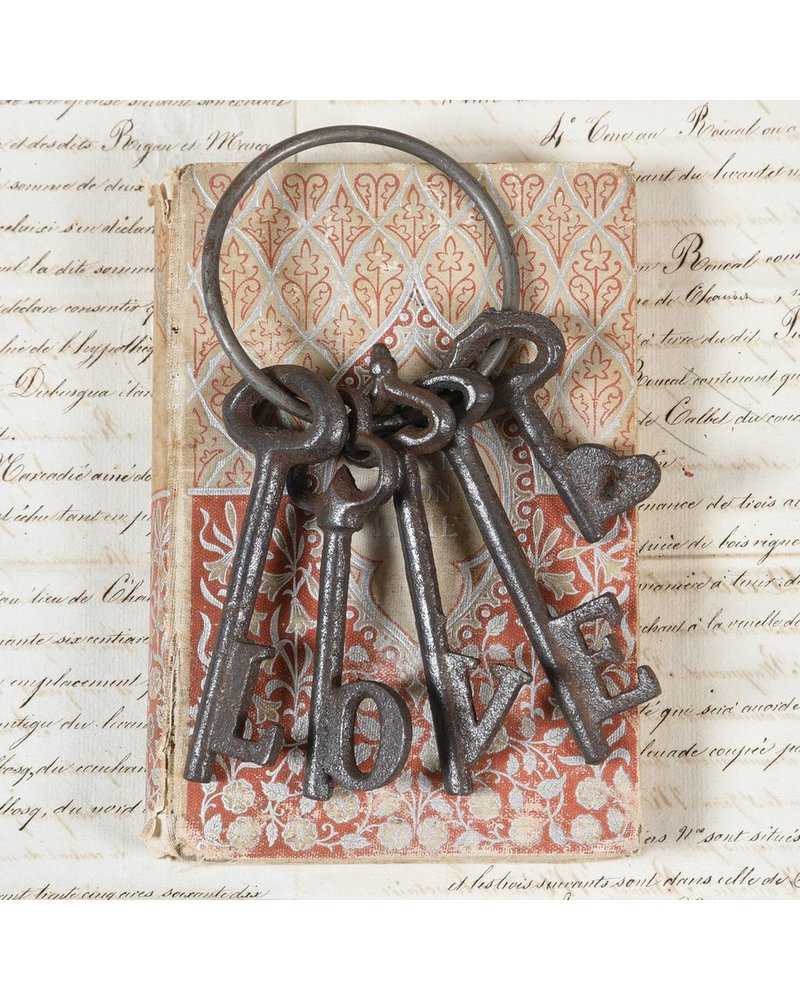 HomArt Love Keys - Cast Iron Natural
