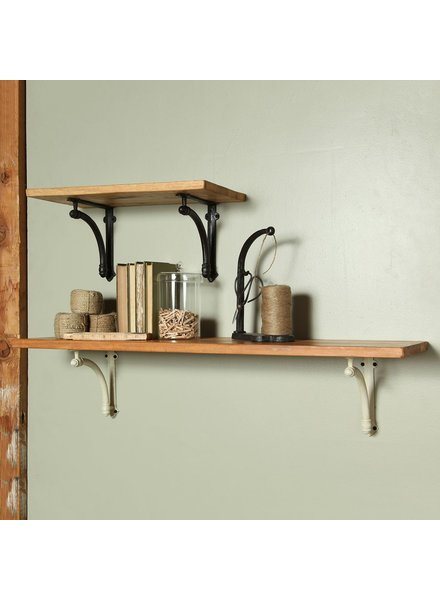 HomArt Williamsburg Shelf - 18 in - Antique Black