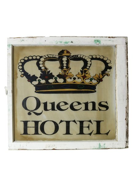 Vintage Window Art - Queens Hotel