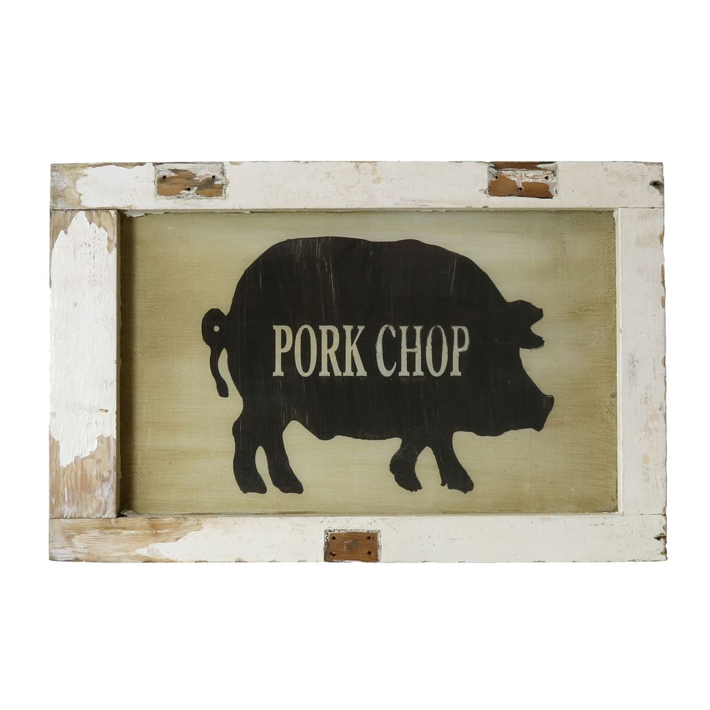 Vintage Window Art - Pork Chop