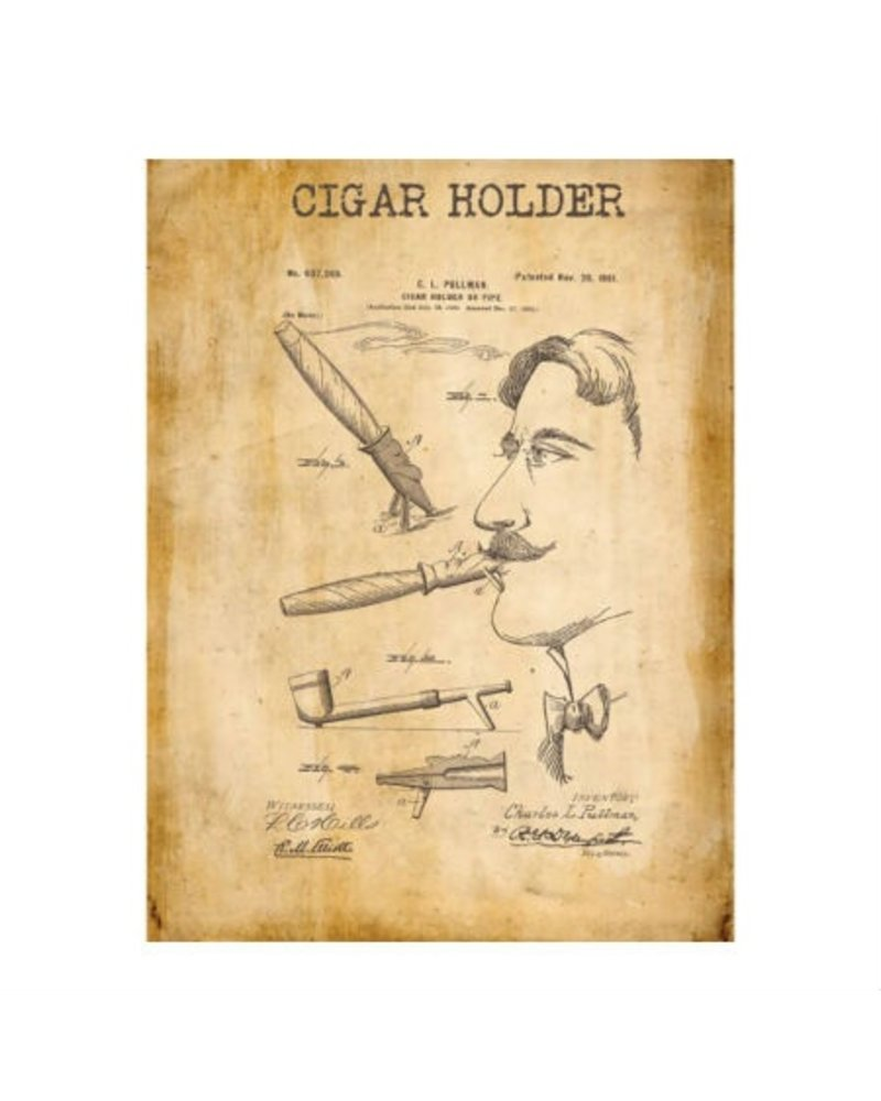 Watson & Co Cigar Holder Patent Sign 12x16