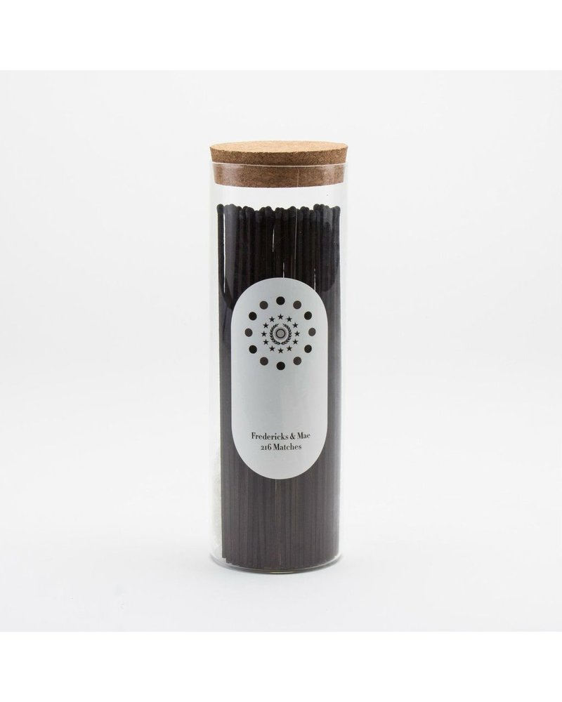 Fredericks & Mae Black Fireplace Matches - Large Jar