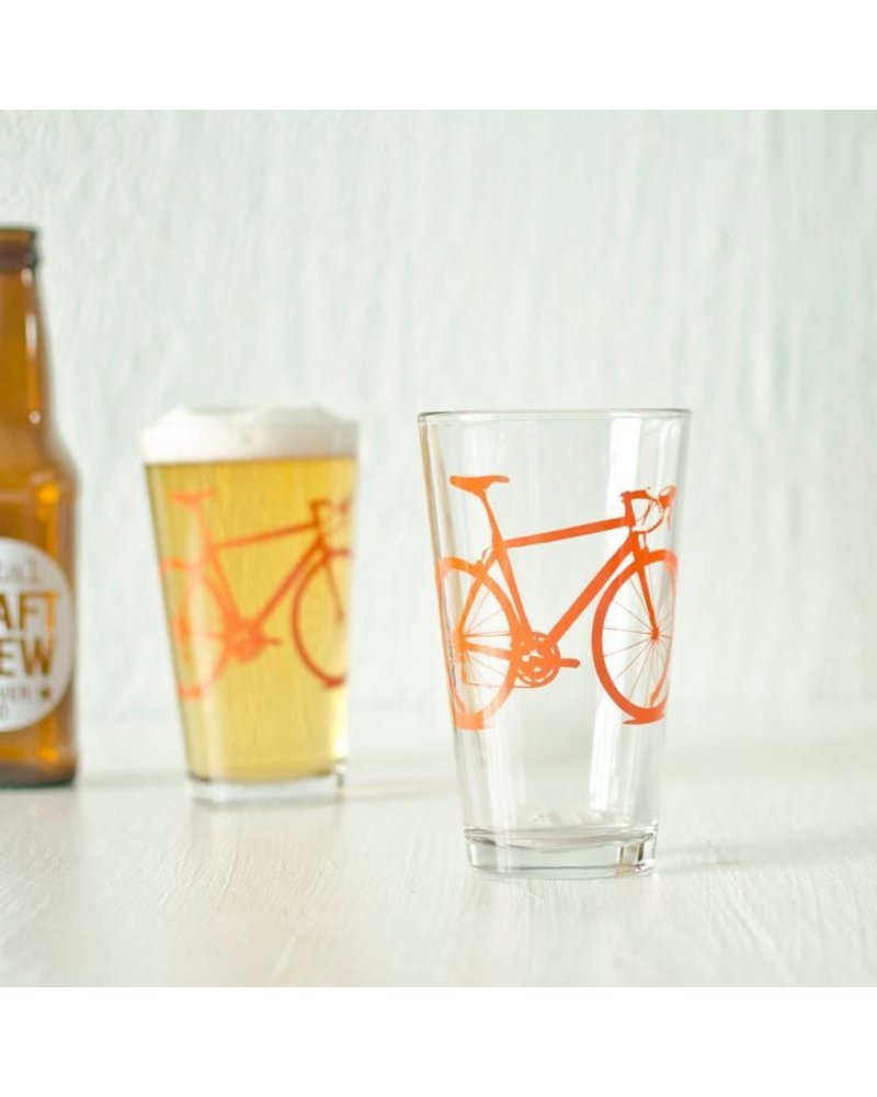 Vital Industries Bicycle Glass Pint 16oz -Orange