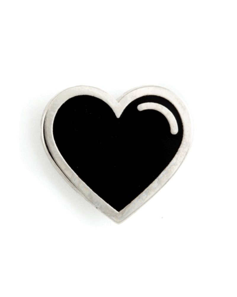 These Are Things Black Heart Enamel Pin