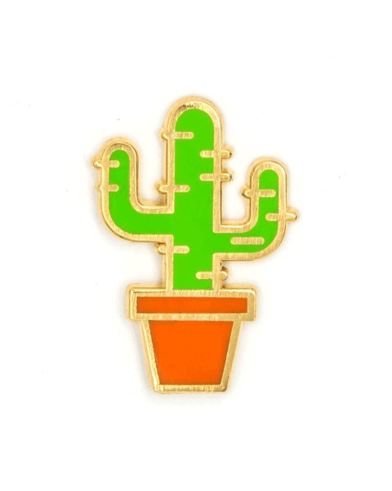 These Are Things Cactus Enamel Pin