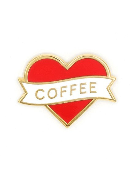 These Are Things I Heart Coffee Enamel Pin