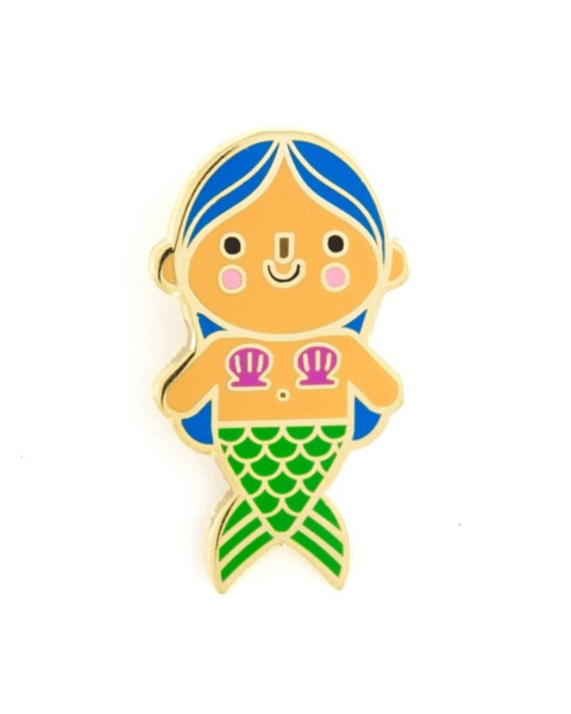 These Are Things Blue Mermaid Baby Enamel Pin