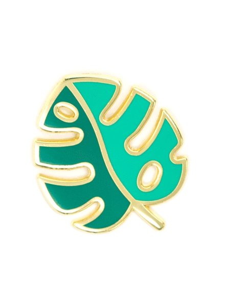 These Are Things Monstera Leaf Enamel Pin