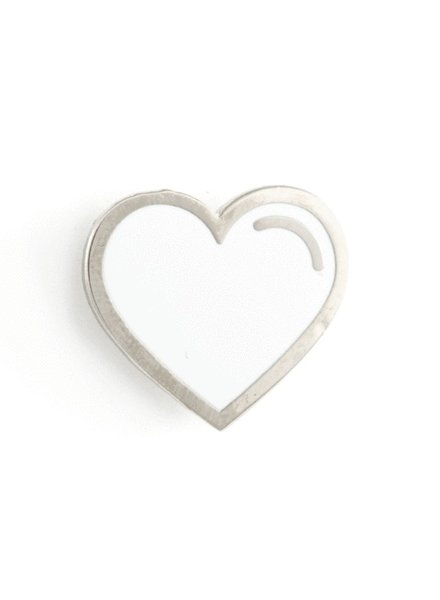 These Are Things White Heart Enamel Pin