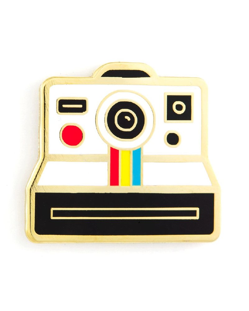These Are Things Polariod Camera Enamel Pin