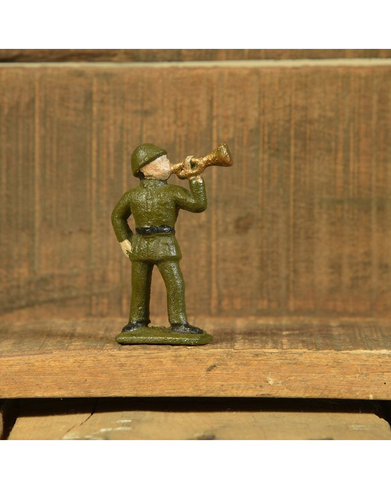 HomArt Cast Iron  Army Men Trumpeter - Set of 2