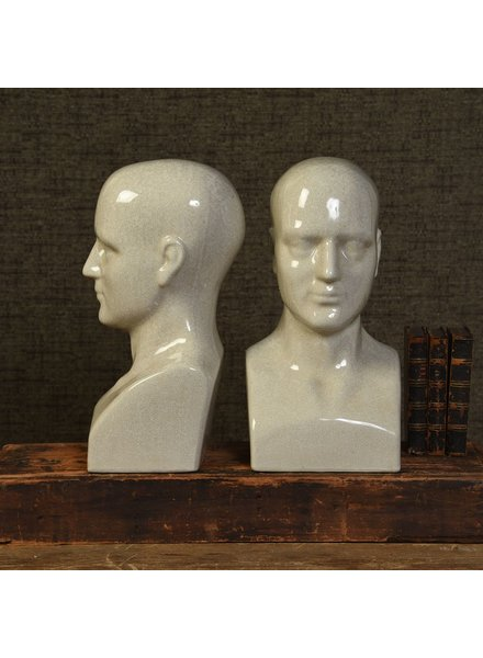 HomArt Phrenology Ceramic Head - Lrg