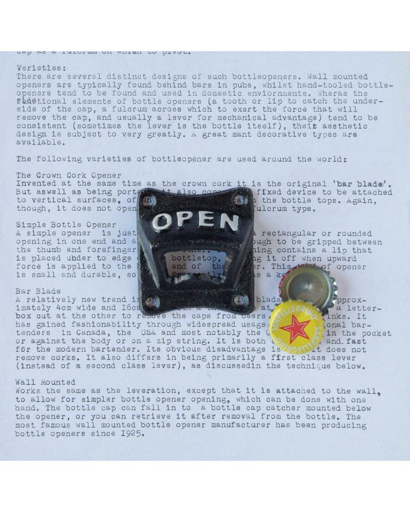 HomArt Black Bottle Opener - OPEN - Set of 2