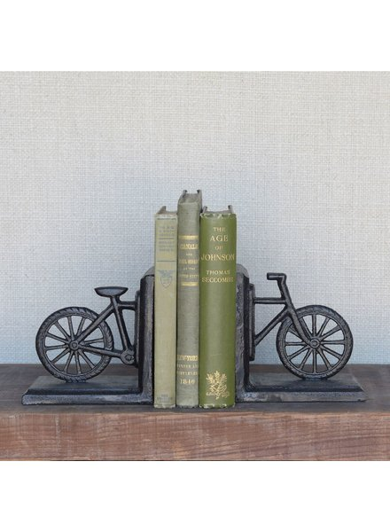 HomArt Bicycle Bookend, Cast Iron - Black