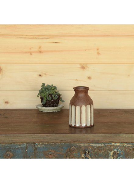 HomArt Caldwell Ceramic Vase - Brown