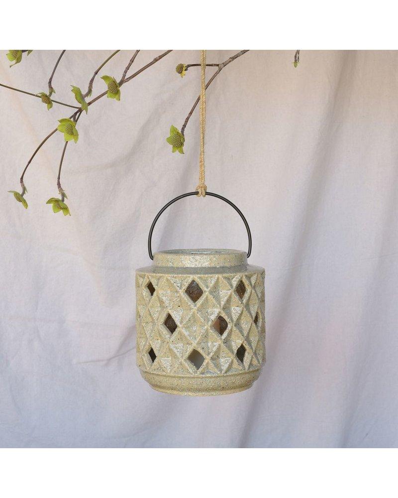 HomArt Gemma Lantern, Ceramic - Grey