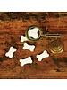 HomArt Tiny Glass Bone - White Bakers Dozen