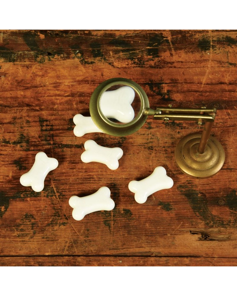 HomArt Tiny Glass Bone - White