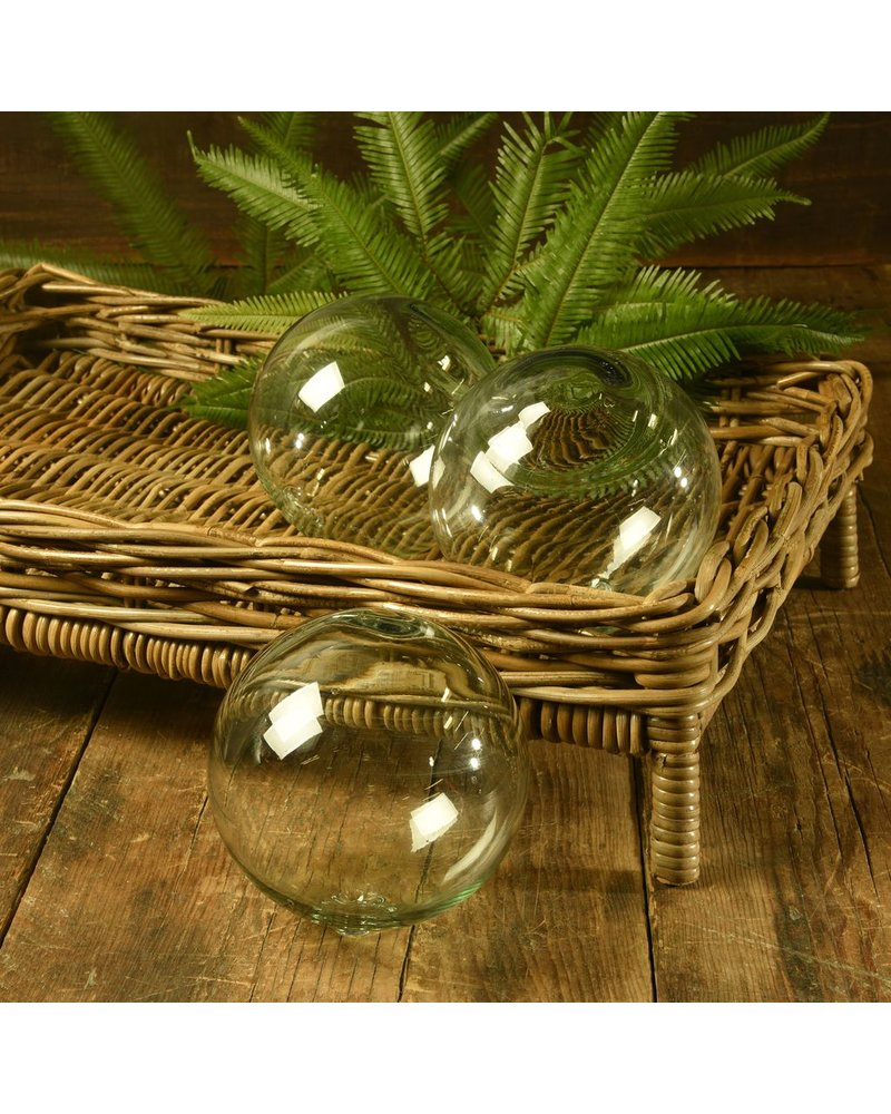 """HomArt Recycled Glass Sphere - 6"""" - Recycled"""